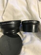 Canon LA-DC58 46-58mm Adapter Tube & WC-DC58 .8x Wide Lens For PS G1/G2 Nice