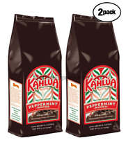 "Kahlua Peppermint Mocha Gourmet Ground Coffee  2 BAGS 12oz  EACH   ""NEW"" FRESH"