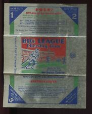 1933 Goudey Baseball Big League Chewing Gum Wax Pack Wrapper #2 EX-MT