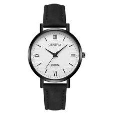 Latest Women Geneva Crystal Stainless Steel Leather Quartz Analog Wrist Watches