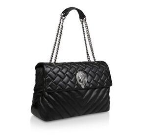 Kurt Geiger Black Leather XXL Kensington Bag