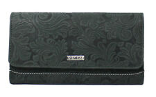 Starhide RFID Embossed Floral Women Purse Real Leather Wallet Best Gift 5585