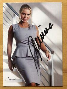 Annina Ucatis Semmelhaack AK Model Erotik Autogrammkarte original signiert 2