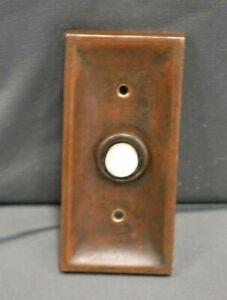 ORIGINAL ELECTRIC BRASS DOOR BELL, ANTIQUE PATINA, BY WILLIAM TONKS & SONS