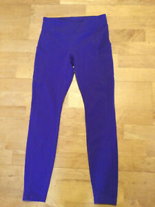 Lulu Lemon Sports Leggings in Purple.  UK 8-10
