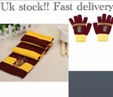 Harry potter Scarf Gloves Set Gryffindor House Cosplay Costume Christmas Present