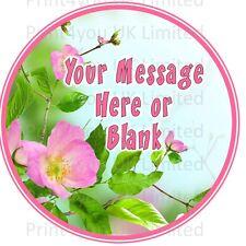 Rosa Árbol De Flor Personalizadas Ronda Día De Las Madres Cumpleaños Pastel Topper Glaseado