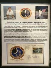 Apollo 14 Edgar Mitchell Hand Signed Insurance Cover Space Nasa