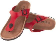 Seranoma Women's Thong Slide On Sandals  Red - Size 6