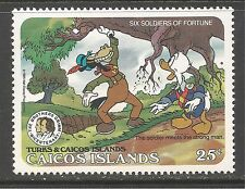 Caicos #80 (C10) VF MINT NH - 1985 25c Mark Twain, Donald Duck and Goofy
