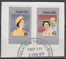 Australia 1977 Θ Mi.630/31 Regentschaft Silver Jubilee Queen Elizabeth [sq7129]