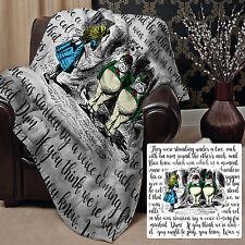 Alice In Wonderland Fleece Blanket Large Throw Over Tweedledee & Tweedledum