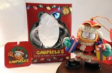 Paw 20 years of Garfield Ornament 1996 Garfield As Santa with packages with Box