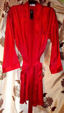Playboy Belted Dressing Gown/Robe Mens Red,Pockets,Knee Length,Night Wear