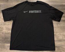 "Nike ""Football� Black Athletic T-Shirt Mens Size Xxl 2Xl"