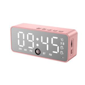 3 in 1 LED Mirror Digital Alarm Clock Wireless Bluetooth Speaker MP3 FM Radio