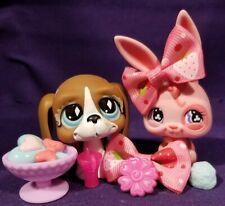 Littlest Pet Shop #500 Bunny Rabbit Pink #502 Basset Hound Brown Nintendo Pets