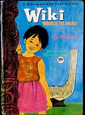 WIKI WANTS TO READ ~ Vintage 1960's Children's Whitman BIG Tell-A-Tale Book