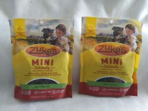 2 pkgs Zuke's Mini Natural Healthy Moist Delicious Duck Dog Training Treats 6 oz