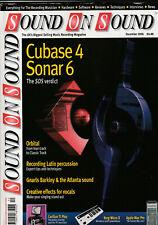 SOUND ON SOUND Magazine December 2006 - Cubase 4, Sonar 6