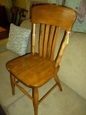 Antique Oak Chair Childs school library Church refinished 1900's  #2