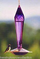 Bird Feeders - Amethyst Glass Bird Feeder - Nectar Bottle