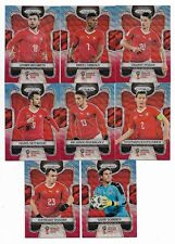 2018 Panini Prizm FIFA World Cup BLUE RED Wave Team Set SWITZERLAND (8 Cards)