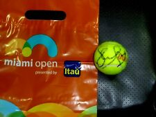 SLOANE STEPHENS AUTOGRAPHED MIAMI  OPEN TENNIS BALL WITH MIAMI OPEN PLASTIC BAG