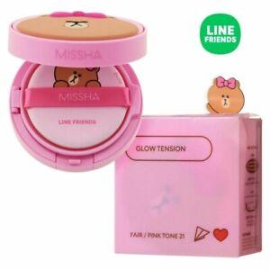 [Missha] Glow Tension Cushion  (Line Friends Edition) 15g 4 color Korea Cosmetic