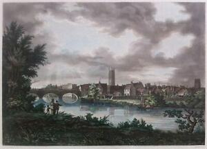 RICHARD GILSON REEVE aquatint of Derby after Henry Moore