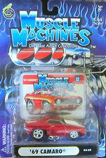Muscle Machines Rojo '69 CAMARO #03-25 DIECAST 1:64 Escala NUEVO