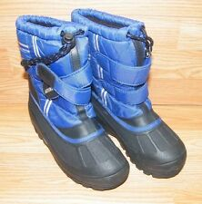 Explorers Boots (56559) Youth Snow Boots Blue/Black Size 1 **Pre-Owned**