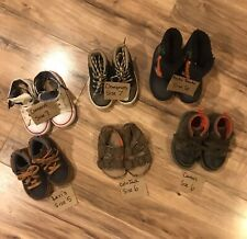 Toddler Boys Lot of 6 Pairs of Shoes S 6&7 Converse Carter's Levi's Cat & Jack +