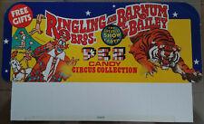 ✰ 1960's PEZ Ringling Bros Barnum Bailey Circus HEADER CARD From No Feet Display