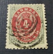nystamps Denmark Stamp # 22 Used $125