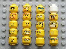 Lot de 20 têtes de personnages LEGO minifig head ref 3626 / Police star wars ...