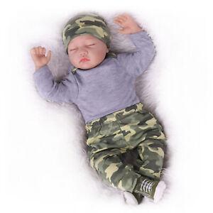 22'' Handmade Reborn Baby Dolls Lifelike Newborn Soft Vinyl Silicone Xmas Gift