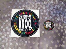 💥KROQ 106.7 fm Reggae Revolution Sticker and keychain insert, from 90's💥