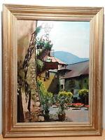 Tableau peinture cité médiévale Conflans Tarentaise Savoie Alpes Albertville 1