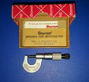 """Starrett 576XR  0-1/2""""  Mechanical Rounded Anvil Outside Micrometer  SUPER NICE"""