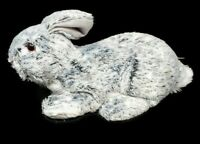 GRAY/WHITE Easter Bunny Rabbit with Glass Eyes CUTE