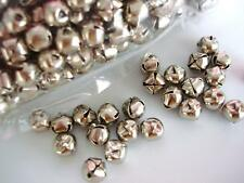 """50 Small Craft 3/8"""" Jingle Bell 8mm Christmas/holiday/ornament/bow M8-Silver"""