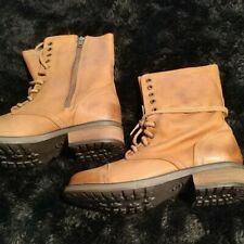 STEVE MADDEN TROPA 2-0 / LACE UP LEATHER COMBAT BOOTS / U.S.SIZE 10 / NEW IN BOX