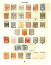 [OP4521] Transvaal lot of stamps on 5 pages