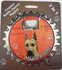 Great Dane Fawn dog coaster magnet bottle opener Bottle Ninjas magnetic