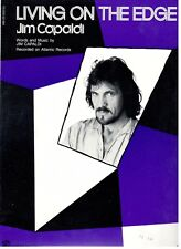JIM CAPALDI-LIVING ON THE EDGE--PIANO/VOCAL/GUITAR W/CHORDS SHEET MUSIC-1983-NEW
