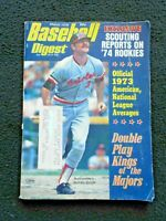 March 1974 Baseball Digest Scouting Reports on '74 Rookies Bobby Grich On Cover