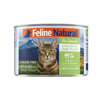 K9 NZ Feline Natural premium cat food Chicken&Lamb Feast 170g x 24 Cans AU STOCK