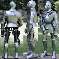 Royal Medieval Antique Full Suit Of Armor Suit Wearable Reenactment Suit Replica