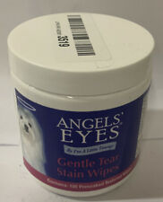 Angels' Eyes Gentle Tear Stain Wipes 100 ct For Dogs. No Seal